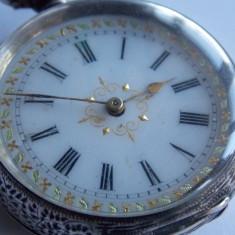 Ceas vechi de buzunar din argint cu cheie -768 - Ceas de buzunar vechi