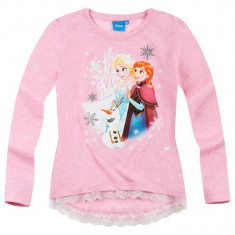 Bluza cu maneca lunga Disney Frozen roz delicat