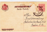 CP 1919 CU SUPRATIPAR ROMANIA - CARTA POSTALA - 10 BANI ; BRASOV- BERLIN