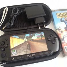 PSP Sony Street E 1004 modat GTA VICE CITY umd original incarcator borseta curelusa