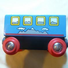 Vagon de Cale Ferata - Jucarie lemn cu tampoane magnetice, Brio Suedia, L= 8, 3