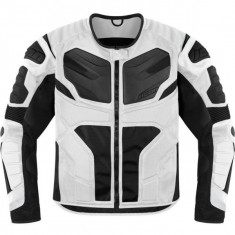 MXE Geaca moto textil Icon Overlord Rezistance, alb Cod Produs: 28202676PE - Imbracaminte moto
