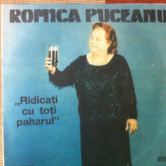 Romica puceanu ridicati cu toti paharul Muzica Lautareasca electrecord folclor disc vinyl lp, VINIL