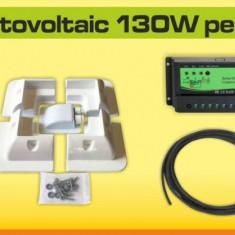 Kit solar fotovoltaic 130W pentru rulota - Panou solar