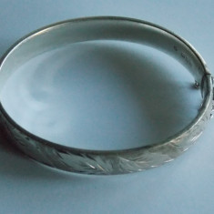Bratara de argint vintage gravata manual-771 - Set bijuterii argint