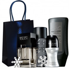 Set Black Suede Touch - Parfum 75ml, Spray 150ml, Gel Dus 250ml, Roll-on 50 ml - Set parfum Avon