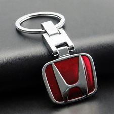 Breloc auto metalic rosu sau negru  pentru HONDA + ambalaj cadou