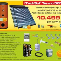 Pachet solar (kit) complet apa calda menajera pentru 5-6 persoane (ITechSol® Termo 56T2) - Panou solar