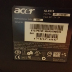 Monitor LCD Acer AL1931 zgariat, 19 inch