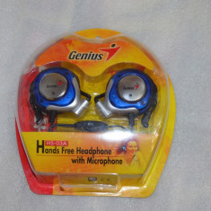 Casti Genius Over-Ear HS-03A cu microfon - poze reale, Casti cu microfon, Analog