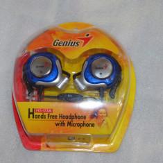 Casti Genius Over-Ear HS-03A cu microfon - poze reale - Casti PC Genius, Casti cu microfon, Analog