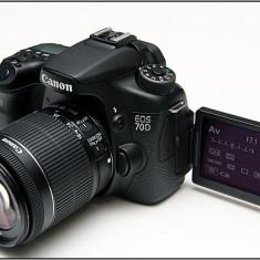 Canon EOS 70D kit obiectiv EF-S 18-55mm f/3.5-5.6 IS STM - Aparat Foto Canon EOS 7D, Kit (cu obiectiv)