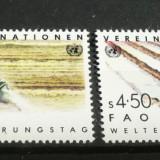 NATIUNILE UNITE VIENA 1984 – AGRICULTURA FAO, serie nestampilata UN71 - Timbre straine
