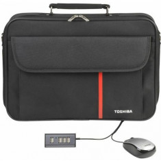 GEANTA NB. TOSHIBA 16 NOTEBOOK STARTER KIT VI PX1791E-1NSK - Geanta laptop Toshiba, Geanta de umar, Nailon, Negru