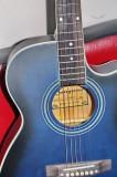 Chitara acustica avansati/incepatori/studenti NOUA albastru+negru