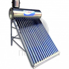 Kit solar nepresurizat compact, cu boiler inox 200 litri si 20 tuburi vidate - Panou solar