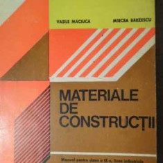 Materiale De Constructii - Vasile Maciuca, Mircea Barzescu, 387075 - Carti Constructii