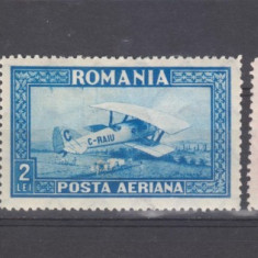 Romania 1928 C.RAIU posta aeriana f orizontal 1 si2 lei 5 lei-vertical - Timbre Romania, Aviatie, Nestampilat