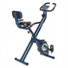 KLARFIT AZURA Pro X-Bike, bicicletă pentru antrenament la domiciliu, până la 100 kg, rata de măsurare, rabatabil, 3 kg, albastru - Bicicleta fitness