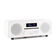 Auna CD CD DAB Melodia + / FM Desktop Radio CD Player Bluetooth Alarmă alb