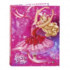 Biblioraft A4 cu 4 inele din carton colectia Barbie - Papusa