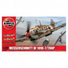 Kit Aeromodele Airfix 02062 Avion Messerschmitt Bf 109E-7/Trop Scara 1:72 - Set de constructie
