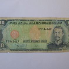 Republica Dominicana 10 Pesos Oro 1997 - bancnota america