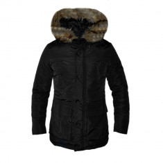 Geaca Zara Man Imblanita Model Gros De Iarna Cod Produs D695 - Geaca barbati, Marime: XL, XXL, Culoare: Negru, Piele