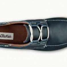 Pantofi piele Olukai Moku Trench Blue 43 - Pantofi barbat, Culoare: Bleumarin