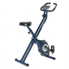 KLARFIT AZURA X-Bike, bicicletă pentru antrenament la domiciliu, până la 100 kg, rata de măsurare, rabatabil, 3 kg, albastru - Bicicleta fitness