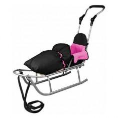 Sanie Rider Plus cu Sac de dormit Speedy Roz Baby Dreams