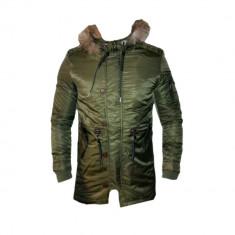 Geaca Zara Man Imblanita Model Gros De Iarna Cod Produs D696 - Geaca barbati, Marime: XL, XXL, Culoare: Khaki, Piele