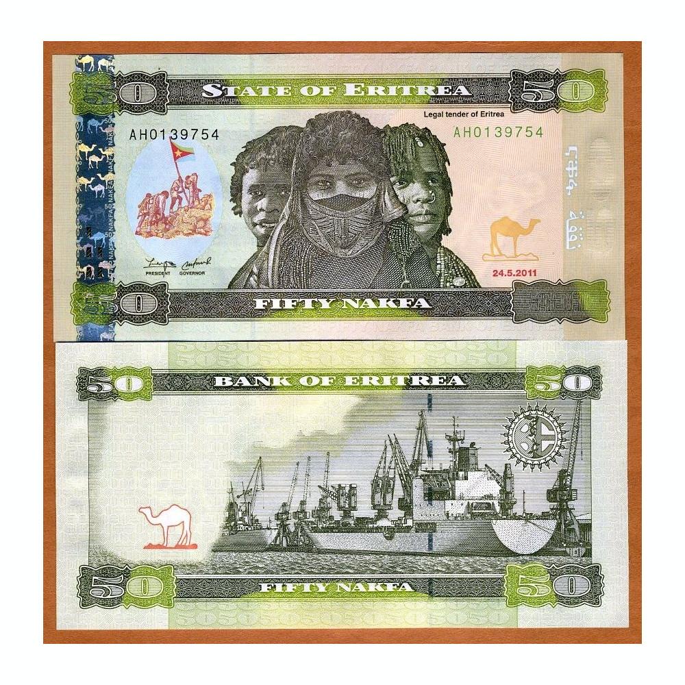 ERITREA Africa 100 Nafka UNC 1997 p-6