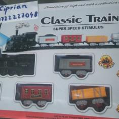 Trenulet Altele electric 1804 aburi fum sunete lumini NOU cu vagoane, sina circuit, Seturi complete