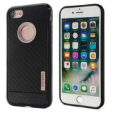 Husa MOTOMO Carbon Fiber Apple iPhone 6G / 6S Rose Gold, iPhone 6/6S, Gel TPU