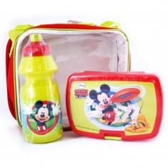 Geanta cu recipiente Mickey Mouse - Figurina Desene animate