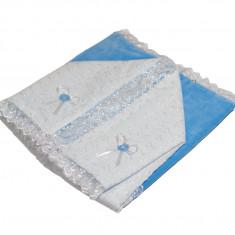 Portbebe bleu din catifea