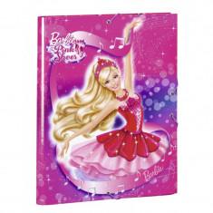 Mapa cu elastic A4 colectia Barbie - Papusa
