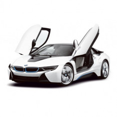 BMW i8 cu Telecomanda, Scara 1:14 Alb - Masinuta Rastar