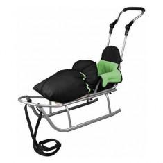 Sanie Rider Plus cu Sac de dormit Speedy Verde Baby Dreams