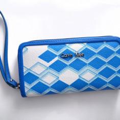 Portofel Calvin Klein Original, NOU, pentru dama, import USA - Portofel Dama Calvin Klein, Culoare: Albastru