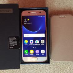 Samsung Galaxy S7 Gold 32GB - Liber de retea - la cutie - impecabil - Telefon Samsung, Auriu, Neblocat, Single SIM