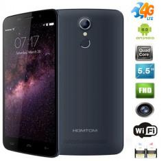 Homtom HT17 NOU, 5.5inch IPS, Quad-Core, 1GB, 8Gb, 13MPX, 3&4G-LTE, Amprenta, Dual Sim, Negru, Neblocat