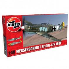 Kit Aeromodele Airfix 5122A Avion Messerschmitt Bf109e-4/N Tropical Scara 1:48 - Set de constructie