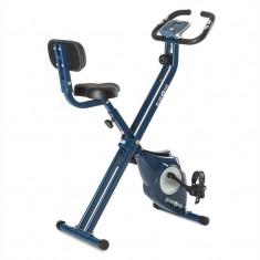 KLARFIT AZURA CF X-Bike, bicicletă pentru antrenament la domiciliu, până la 100 kg, rata de măsurare, rabatabil, 3 kg, albastru - Bicicleta fitness