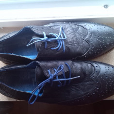 Pantofi barbati marime 46 piele, Culoare: Negru