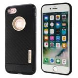 Husa MOTOMO Carbon Fiber Apple iPhone 6 Plus Gold