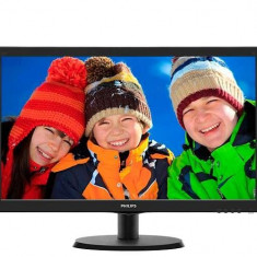 MONITOR PHILIPS LED WIDE 21.5 223V5LHSB/00 - Monitor LED Philips, 21 inch, HDMI, 1920 x 1080
