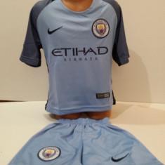 Echipamente sportive fotbal copii Manchester City-Kun Aguero marimea 104-116 - Set echipament fotbal, Marime: Alta