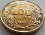 Moneda 100 Lire- TURCIA, anul 1987 *cod 2502, Europa